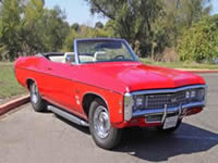 Beautiful Cherry Red 1969 Chevrolet Impala SS Clone for sale