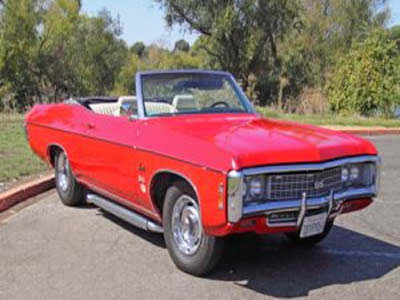 Beautiful Cherry Red 1969 Chevrolet Impala SS Clone