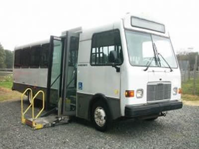 A wheelchair lift equipped 2001 Freightliner Champion for sale