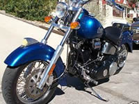 A beautiful blue 2001 Indian Spirit Motorcycle