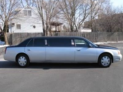 Image of a stylin 2005 Cadillac DeVille DTS limo for sale