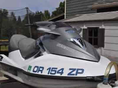 Image of the bow of a 2006 Seadoo Waverunner