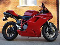 image of a beautiful red 2007 Ducati Superbike