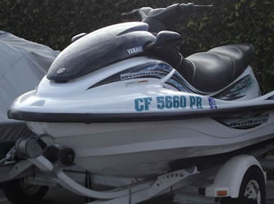 Front view of a Yamaha XL 800 Waverunner
